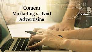 Difference Between Content Marketing & Paid Advertising.